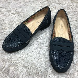 Leather Navy Loafers!